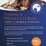 Talgarth Mill Pudding & Prosecco Run 2019