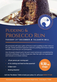 Talgarth Mill Pudding & Prosecco Run 2019